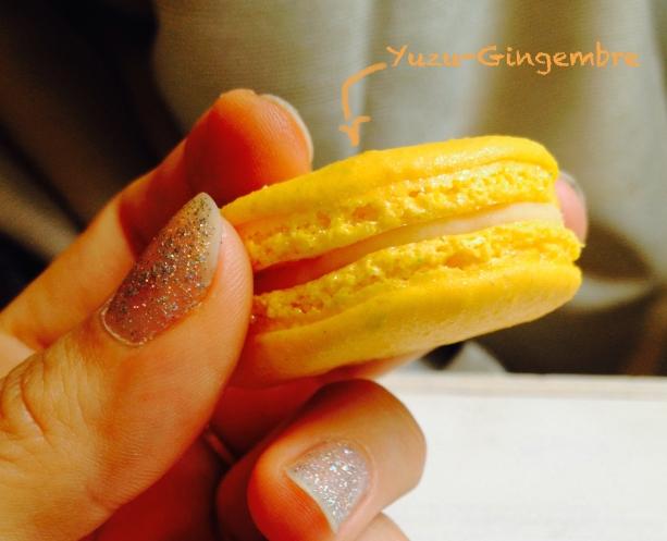 Macaron Richart Yuzu Gingembre