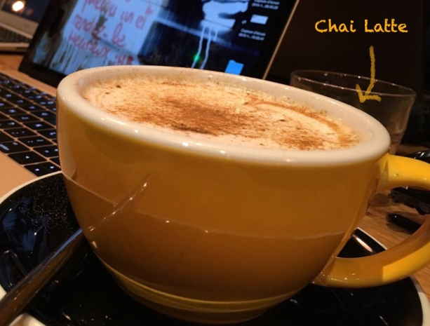 chai latte Slake Coffee House