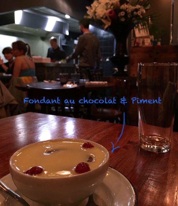 Fondant Chocolat piment